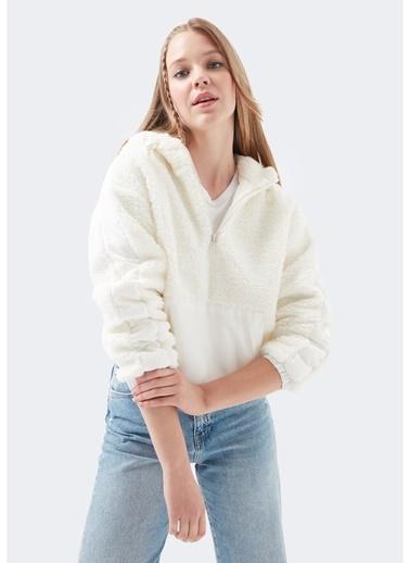 Mavi Mavi Kırık Beyaz Sweatshirt Beyaz
